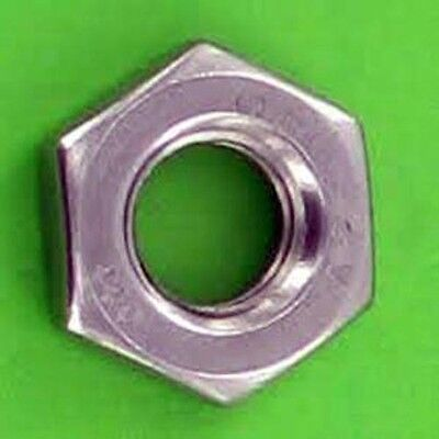 Metric Stainless Steel A2 Thin Jam Nut M12 X 1.25 Pack of 5