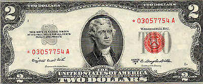 1953-B $2 UNITED STATES NOTE AU STAR NOTE FR 1511☆-RED SEAL-FREE USA SHIP