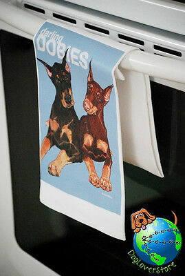 Doberman Pinscher Kitchen Hand Towel