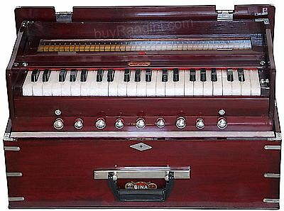 Harmonium Bina No.23 B Delux Folding/coupler Funct./teak Color/3½/42 Key/bag/bie