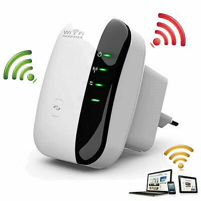 Wireless WiFi Router Repeater WLAN Network Range Extender Booster 300Mbps 802.11