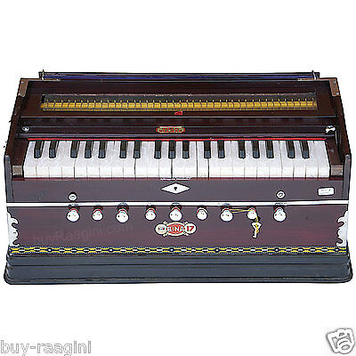 Harmonium Bina No.17 B Delux/coupler Function/rosewood Color/42 Key/indian/aig-2
