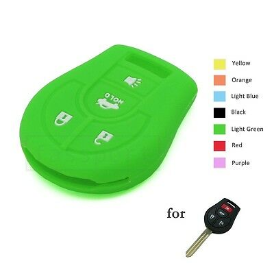 Silicone Cover Shell fit for NISSAN Remote Key Case Fob 3 Button Hollowed 2506BK