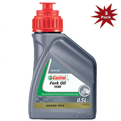 Castrol 15w Motorcycle Fork Oil Mineral Suspension Fluid 3x500 ML=1.5 Litre