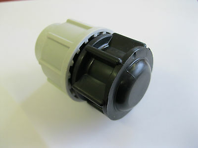 Plasson 25Mm Straight Mdpe Compression Water Pipe Stop End Plug  7120 (Ss)