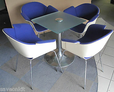 Bene Rondo C4RRON4FS Blue Designer Chair,Orangebox Glass Table,Meeting Room