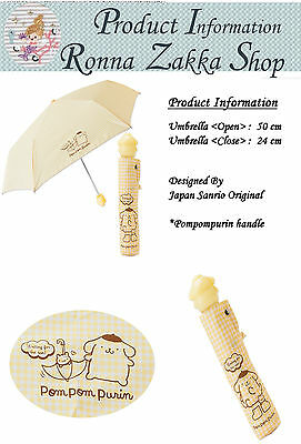 New Japan Licensed Sanrio Original Pompompurin handle folding umbrella