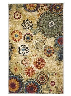 New Medallion Multi Colored Area Rug 8x10,carpet,Soft Rug,Living Room,dining roo