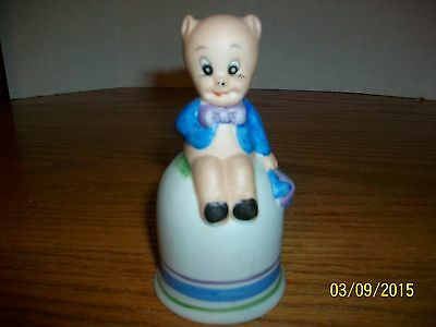 Vintage 1979 Decorative Porky Pig Bell 4.25 inches by Warner Brothers