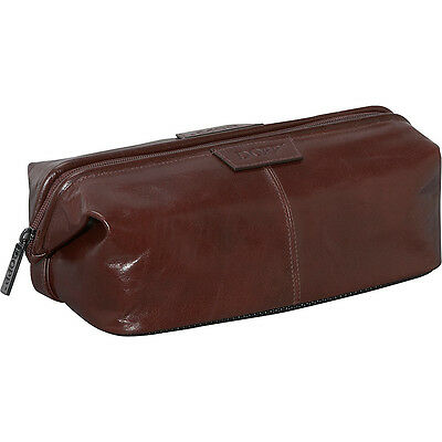 Dopp Veneto Traditional Framed Travel Kit - Brown Toiletry Kit NEW