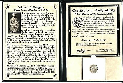 Madonna and Child Silver Denar Coin, Album,Story & Certificate
