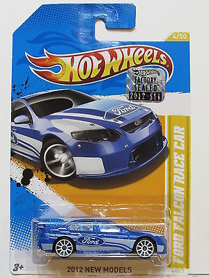 HOT WHEELS 2012 NEW MODEL FORD FALCON RACE CAR BLUE FACTORY SEALED