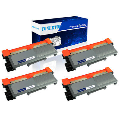4PK TN660 TN630 Toner Cartridge for Brother HL-L2320D HL-L2340DW HL-L2380DW
