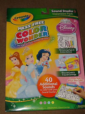 Crayola Mess Free Color Wonder Disney Princess Sound Studio Expansion Pack-New