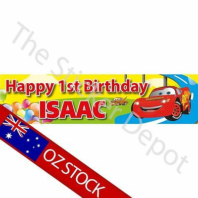 Disney Cars 2 Birthday Banner – Add your name and age!
