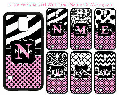 Customize Pink Polka Dots Damask Samsung Galaxy S3 S4 S5 Note 3/4 Phone Case M55