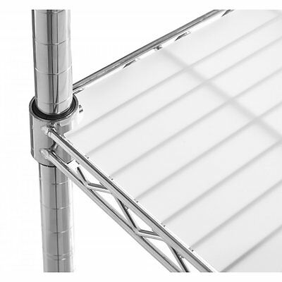 Translucent Shelf Liners for Chrome Wire Shelving