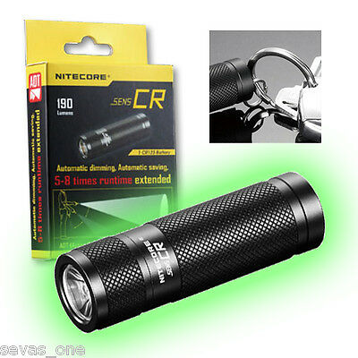 Nitecore Sens CR Flashlight 190 Lumens - with Active Dimming