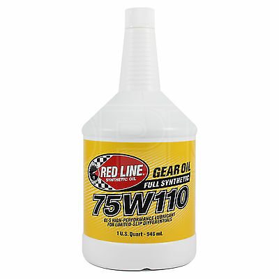 RED LINE Synthetic Gear Oil 75W-110 High Performance GL5 1 US Quart 0.946 litre