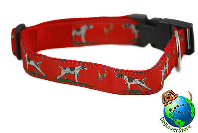 "German Shorthair Pointer Adjustable Collar Large 12-20"" Red"