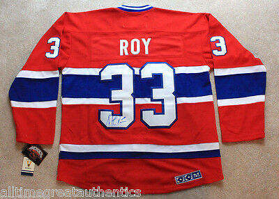 PATRICK ROY SIGNED AUTOGRAPH MONTREAL CANADIENS HABS #33 JERSEY w/COA AVALANCHE