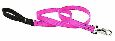 """NEW LUPINE 1/2"""" DOG LEAD LEASH HOT PINK NYLON 4 FT  Made in the USA GUARANTEED!"""
