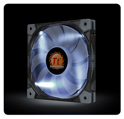 Thermaltake LUNA SLIM 120mm WHITE LED CL-F035-PL12WT-A Anti-Vibration FAN [f33]