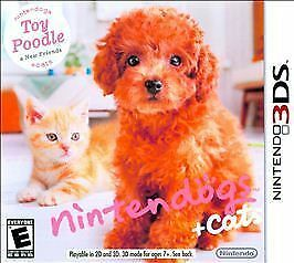 NINTENDOGS TOY POODLE, NEW FRIENDS + CATS 3DS NEW!! LABRADOR, BOXER, BEAGLE, POM