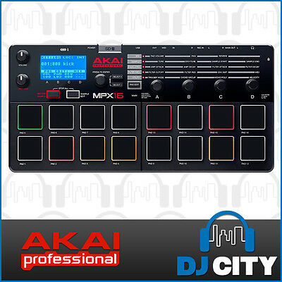Akai MPX16 MPC Pad Sampler Recorder and MIDI Controller with SD Card input DJ...
