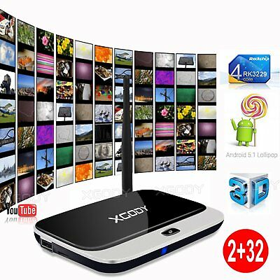 32G XGODY NEW 16.1 Media Player Quad Core Smart Android TV BOX HD Movies Sports