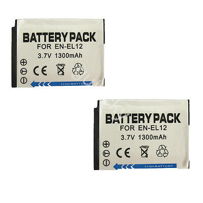 2 Battery for Nikon Coolpix S6000 S6100 S6150 S6200 S6300 S9300 Digital Camera