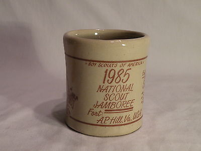 1985 National Jamboree East Central Region Stoneware Coffee Mug Excellent Mint