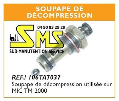 Clapet Soupape De Decompression Bille Transpalette Manuel Mic Tm2000 Tm 2000