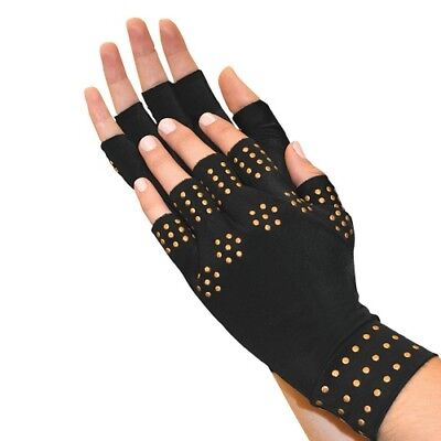 Magnetic Therapy Gloves Compression Arthritis Circulation Supports Joints Black