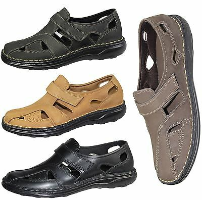 Mens Boys Sandals Nubuck Suede Leather Summer Fashion Slipper Mules Casual Shoes