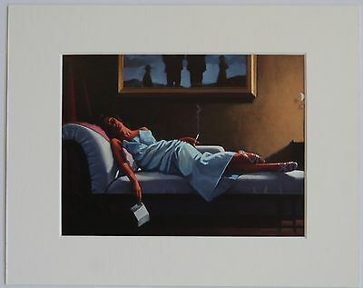 """The Letter by Jack Vettriano Mounted Art Print 10"""" x 8"""""""