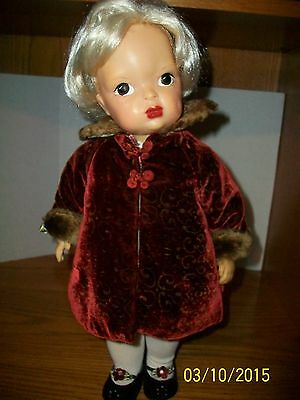 Vintage 16 inch Terri Lee Doll in Complete Limited Edition Outfit Winter Coat