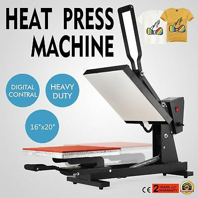 "16"" x 20"" Heat Press Transfer Digital Clamshell T-Shirt Sublimation Machine New"