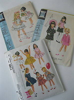 Lot of 3 1960s VTG McCall's Girls Sewing Patterns, Size 3