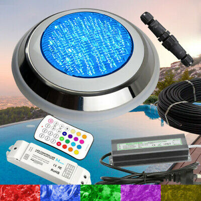 Extremely Bright Swimming Pool RGB LED Light - 7 Colours + RGB +Power Kit +Cable