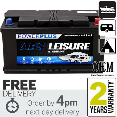 12V Low Height Profile 110 AH Premium Campervan Leisure Battery Fits VW T5