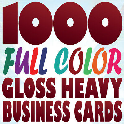 1000 Full Color Custom 16pt LUSTER BUSINESS CARDS with 3mil Gloss Lamination