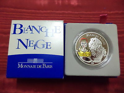 2002 - Bianca Neve 1 1/2 €. Silver Proof Color.