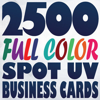 2500 Full Color 16pt SPOT UV BUSINESS CARD Printing Gloss and Matte on same side