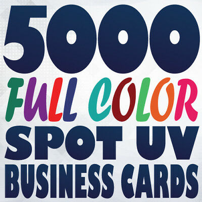 5000 Full Color 16pt SPOT UV BUSINESS CARD Printing Gloss and Matte on same side