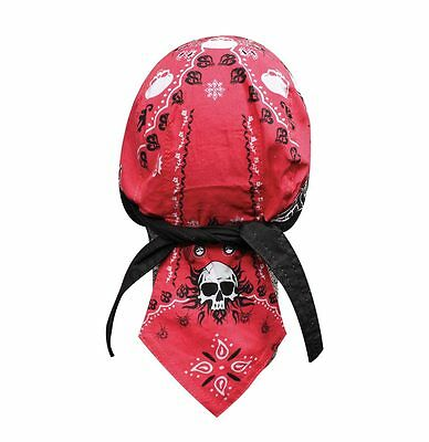 Red Spider Paisley Headwrap Bandanna Sweatband Durag Capsmith Free Shipping