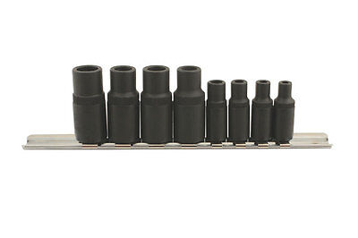 MAGNETIC TAP SPECIAL SQUARE SOCKET SET 1mm - 8mm ON STORAGE RAIL