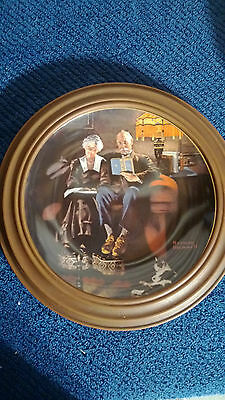"Norman Rockwell's ""Evening's Ease"" collector plate"