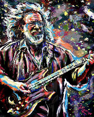 Jerry Garcia Art, Grateful Dead Print, GD Poster, The Dead Original Art
