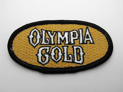 NEW Olympia Gold Beer Embroidered Black & Tan Iron On Sew On Patch